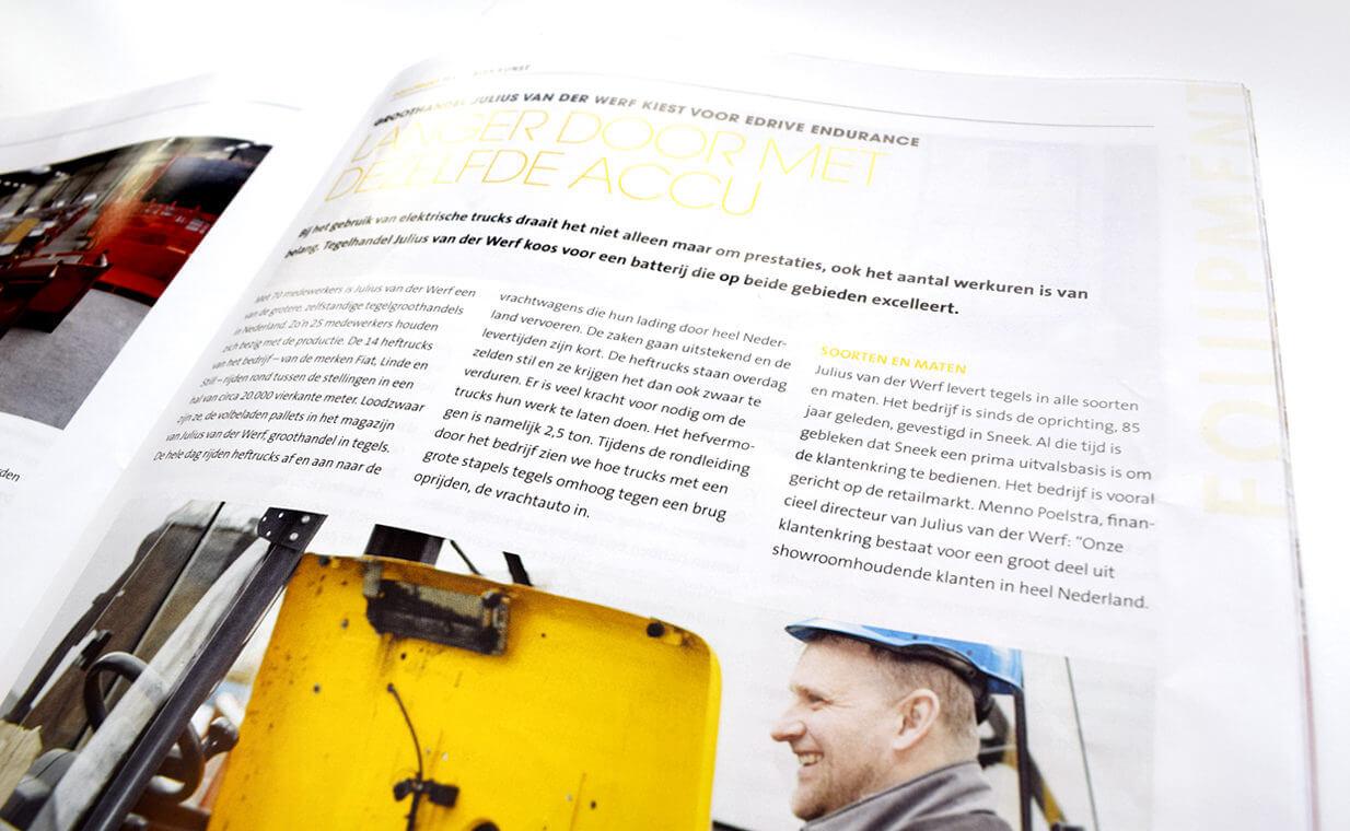 Groothandel Julius van der Werf kiest voor EDrive Endurance