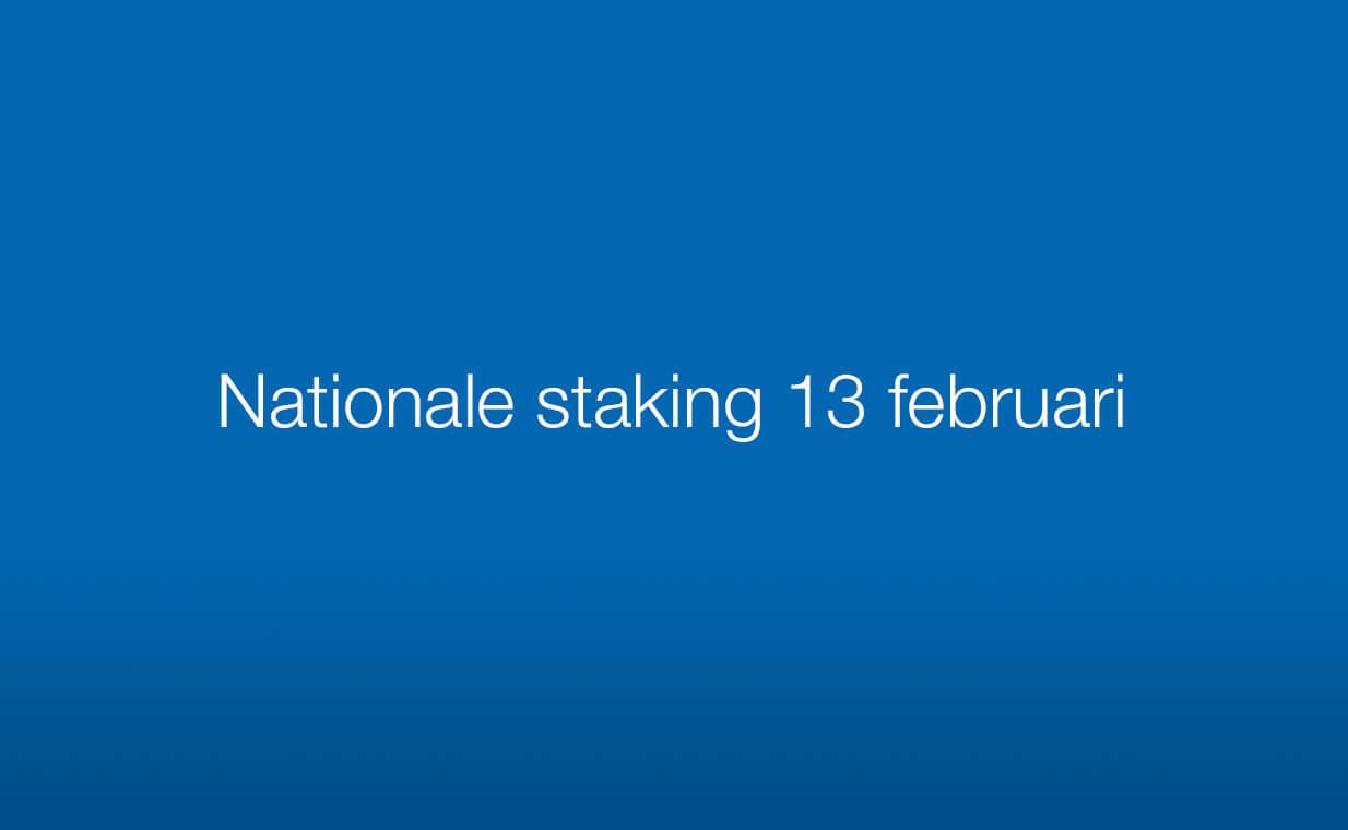 Aankondiging nationale staking